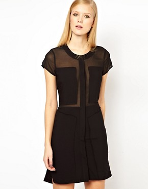 Image 2 ofFactory by Erik Hart Open Back Shirt Dress