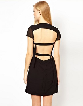 Image 1 ofFactory by Erik Hart Open Back Shirt Dress