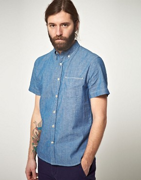 Image 1 ofLee 101 Every Man Chambray Short Sleeve Shirt
