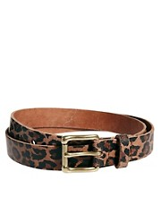 ASOS Leopard Print Leather Belt