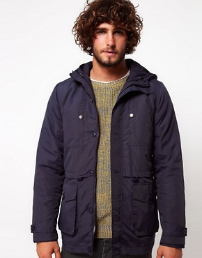 Image 1 ofASOS Parka Jacket With Removable Jacket