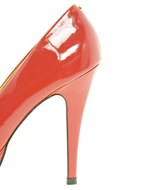 Image 3 ofTed Baker Svana 4 Red Peep Toe Platform Shoes