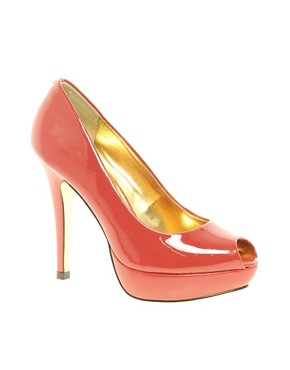 Image 1 ofTed Baker Svana 4 Red Peep Toe Platform Shoes