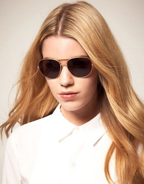 Image 3 ofThe Row Metal Aviator Sunglasses