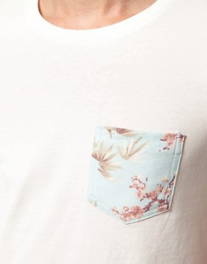 Image 3 ofASOS T-Shirt With Leaf Print Pocket