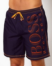 Boss Black Navy Killifish Swim Short