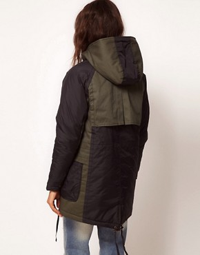 Image 2 ofASOS Nylon Blocked Parka