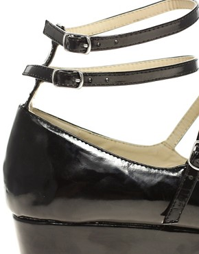 Image 2 ofASOS VIOLA Ballet Style Flatform Shoes