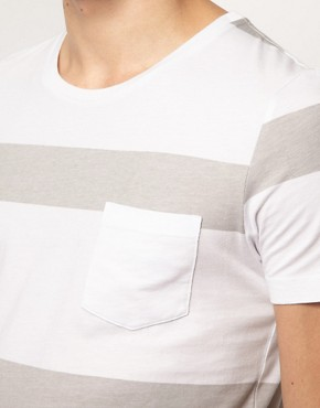 Image 3 ofASOS Stripe T-Shirt With Pocket