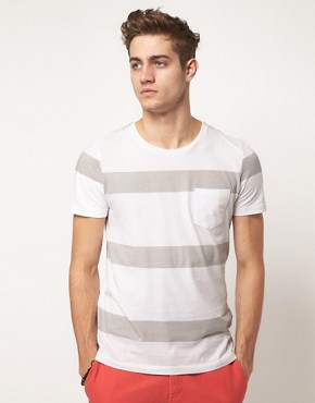 Image 1 ofASOS Stripe T-Shirt With Pocket