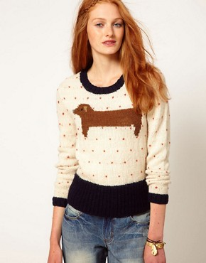 Image 1 ofAime by People Tree Wool Sausage Dog Jumper