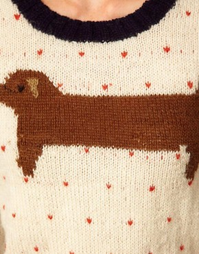 Image 3 ofAime by People Tree Wool Sausage Dog Jumper