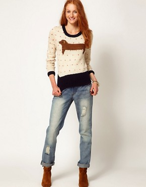 Image 4 ofAime by People Tree Wool Sausage Dog Jumper