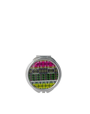 Image 1 ofASOS Exclusive Bright Jewel Print Compact Mirror