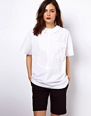 ASOS Shirt With Tab Collar And Zip Back
