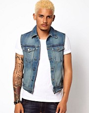 Criminal Damage Denim Gilet