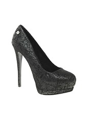Blink Silver Platform Heeled Shoe
