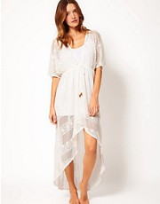 Nookie Beach Exclusive To ASOS Knitted Beach Dress With High Low Hem