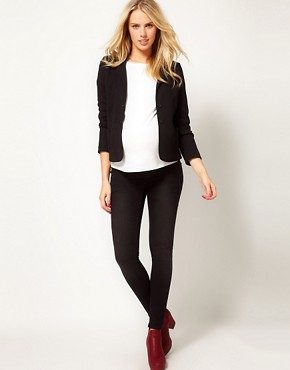 Image 4 ofASOS Maternity Ponte Jacket