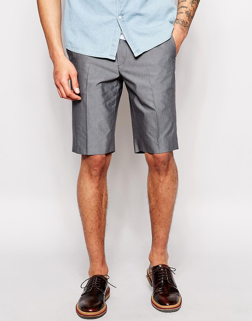 Product photo of Ps paul smith shorts in textured cotton grey