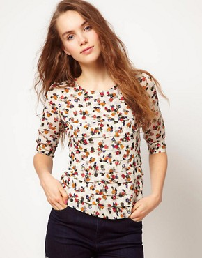 Image 1 ofA Wear Floral Print Blouse
