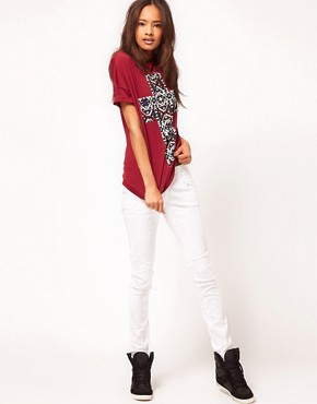Image 4 ofASOS T-Shirt with Aztec Cross