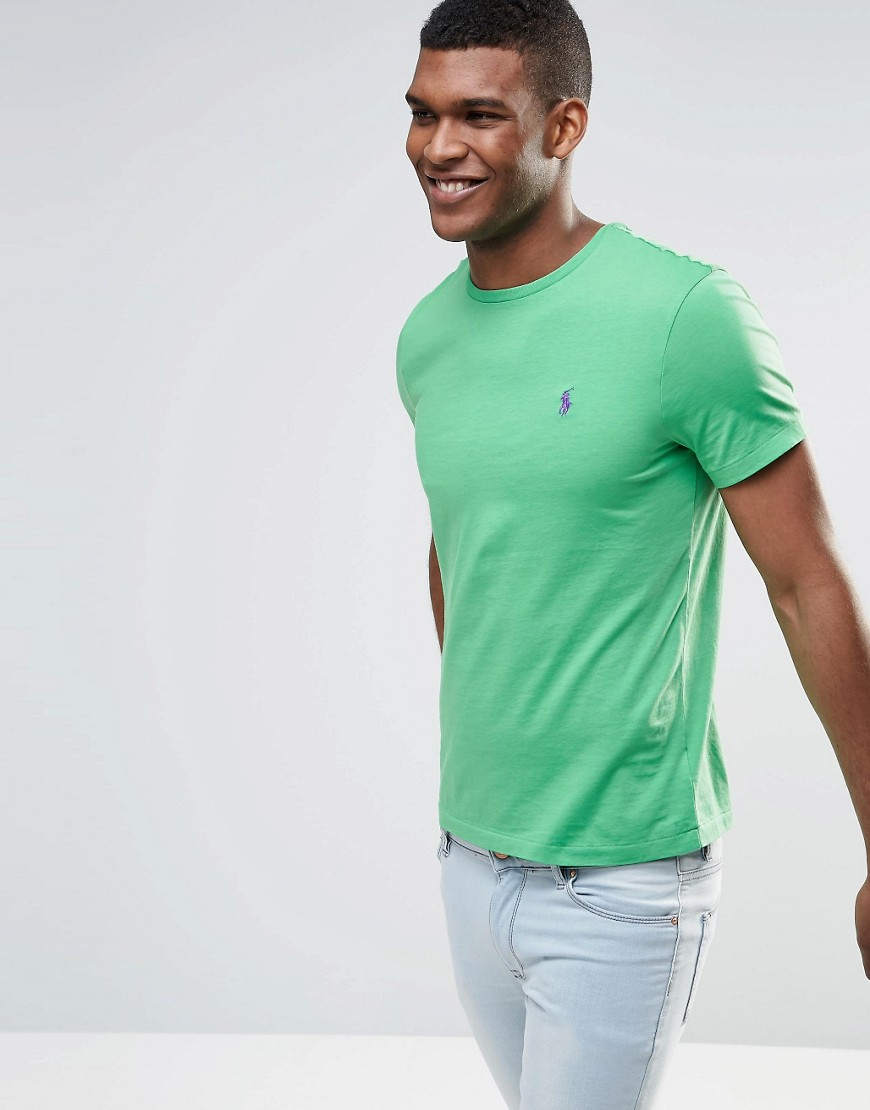 Polo Ralph Lauren T-Shirt With Logo In Custom Regular Fit In Green - Green
