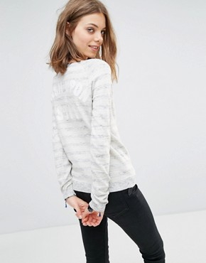 Maison Scotch Stripe Knitted Jumper