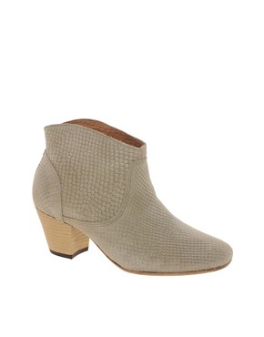 Image 1 ofH by Hudson Mirar Grey Heeled Ankle Boots