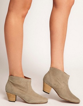 Image 3 ofH by Hudson Mirar Grey Heeled Ankle Boots