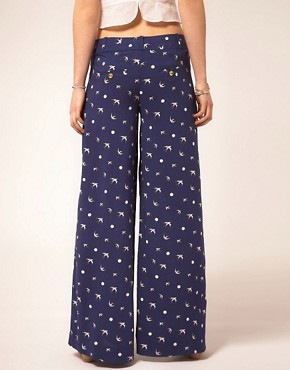 Image 2 ofSugarhill Boutique Palazzo Pants In Swallow Print