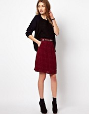 By Zoe Printed Knee Length Skirt