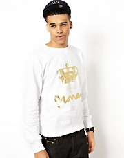 Money Crew Sweatshirt Purity Foil Print