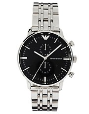 Reloj clsico de acero inoxidable AR0389 de Emporio Armani