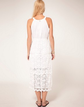 Image 2 ofASOS Midi Dress In Heavy Lace