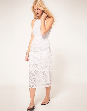 Image 4 ofASOS Midi Dress In Heavy Lace