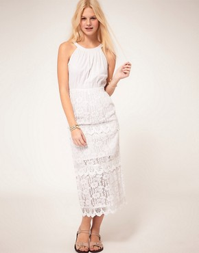 Image 1 ofASOS Midi Dress In Heavy Lace
