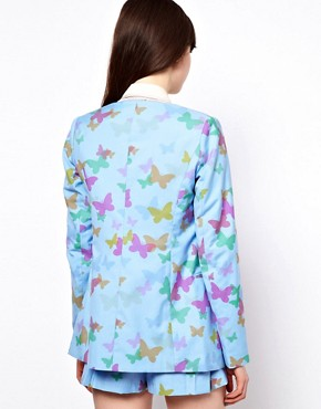 Image 2 ofNishe Scalloped Jacket in Butterfly Print