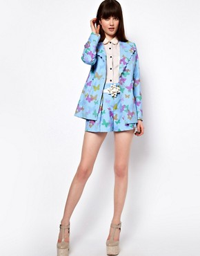 Image 4 ofNishe Scalloped Jacket in Butterfly Print