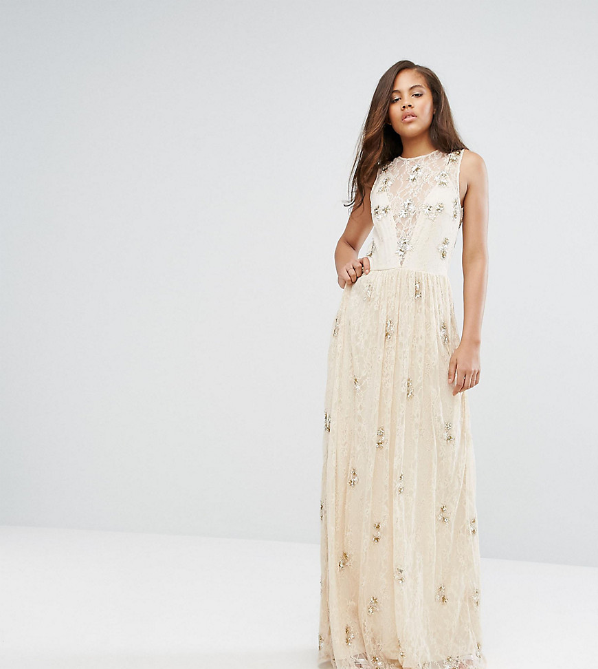 Maya Tall All Over Embellished Lace Maxi Dress