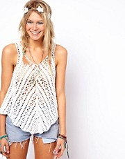 ASOS Crochet Village Swing Vest