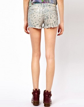 Image 2 ofBlank NYC Printed Cut-Off Shorts