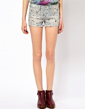 Image 4 ofBlank NYC Printed Cut-Off Shorts