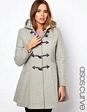 ASOS CURVE Swing Duffle Coat