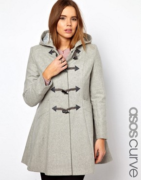 Image 1 ofASOS CURVE Swing Duffle Coat