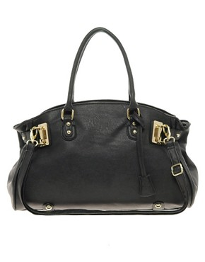 Image 1 ofASOS Metal Plate Strap Bag