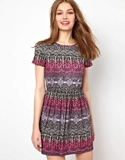 A Wear Aztec Printed Skater Dress