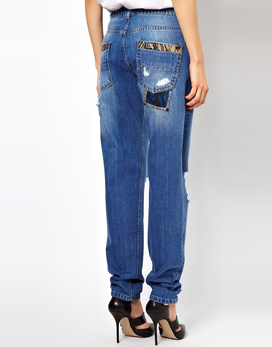 Image 2 of ASOS Boyfriend Jean with Stitch Detail
