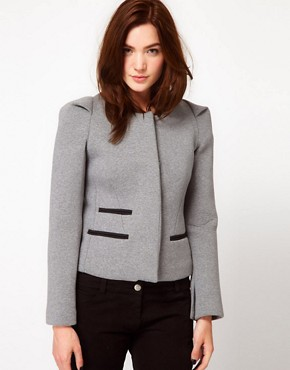 Image 1 ofIRO Structured Blazer with Pleated Shoulder