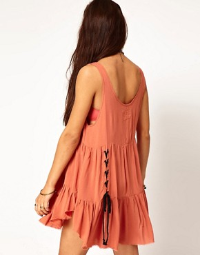 Image 2 ofOne Teaspoon Jinki Playsuit with Lace Up Detail